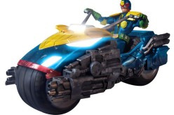 Mezco One:12 Judge Dredd Action Figure With Bike Box Set PX Previews Exclusive
