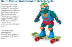 Playmates Toys TMNT Skateboarding Michelangelo & Touchdown Leo Retro Classic Figures