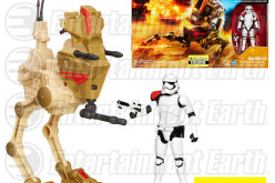 Entertainment Earth Exclusive Star Wars The Force Awakens Desert Assault Walker With First Order Stormtrooper Officer