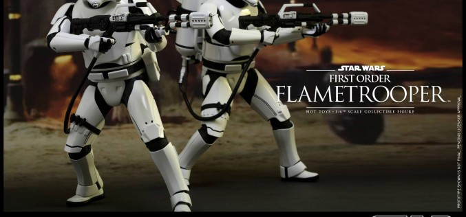 Hot Toys Star Wars First Order Flametrooper Sixth Scale Figure