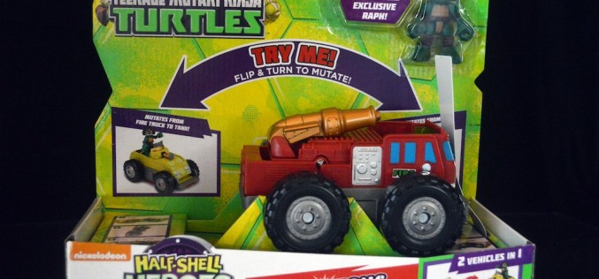 Playmates Toys TMNT Half Shell Heroes Mutations Fire Truck To Tank Review