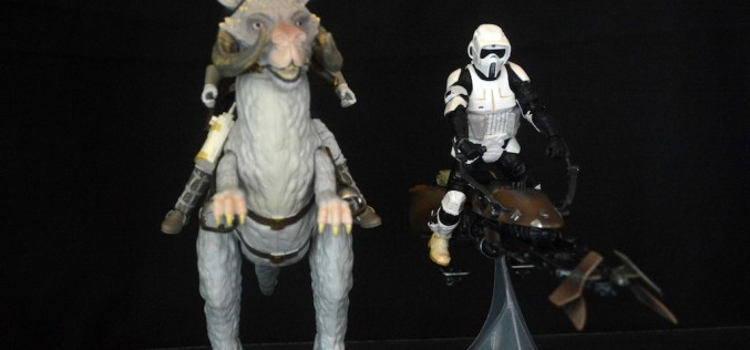 Hasbro Star Wars The Black Series 6″ Speeder Bike With Biker Scout & Han Solo With Tauntaun Review + Giveaway