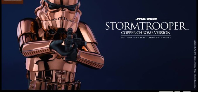 Hot Toys Star Wars Copper Chrome Stormtrooper Sixth Scale Figure