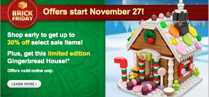 LEGO Shop Black Friday Offers: Free Gingerbread House, & Up To 30% Off Select Products