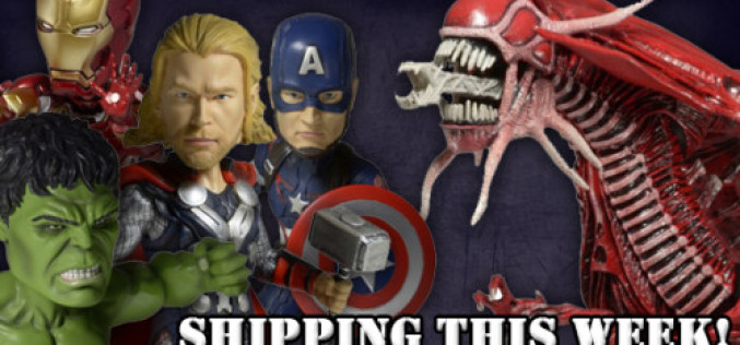 NECA Shipping This Week: Aliens Genocide Red Queen Mother & Avengers Age Of Ultron Head Knockers