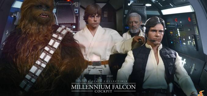 SDCC 2015 – Hot Toys Star Wars Millennium Falcon Cockpit Diorama