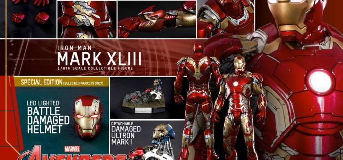 Hot Toys Announces Avengers: Age Of Ultron Mark XLIII Iron Man Sixth Scale Figure
