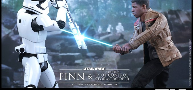 Hot Toys Reveals Star Wars The Force Awakens Finn & Riot Control Stormtrooper