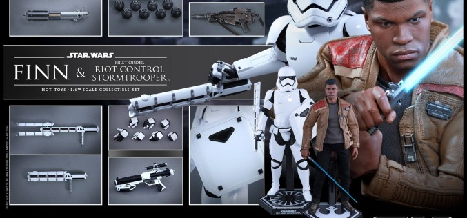 Hot Toys Star Wars The Force Awakens Finn & Riot Control Stormtrooper Pre-Orders