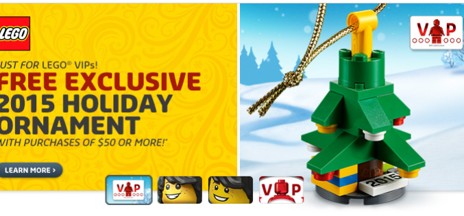 LEGO Shop Offering Double Rewards Points, FREE 2015 Holiday Ornament