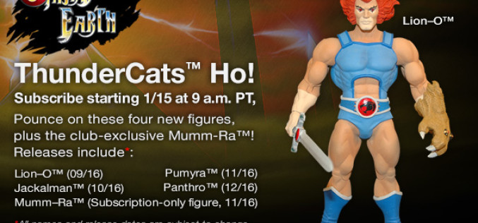 Mattel ThunderCats Classics Third Earth Subscription Pricing Update