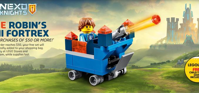 LEGO Shop Offering Free Nexo Knights Robin's Mini Fortress