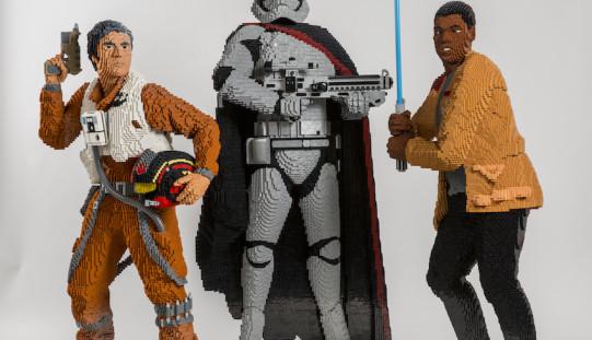 LEGO Star Wars Life-Size Poe, Finn, & Captain Phasma Replica's