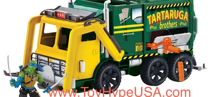 TMNT: Out Of The Shadows Waste Disposal Truck Pre-Orders & Figure Listings