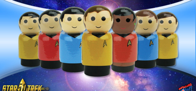 Bif Bang Pow! Star Trek: The Original Series Pin Mate Wooden Figures Now Available To Pre-Order
