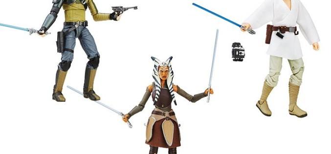 Hasbro Star Wars TBS 6″ Ahsoka, Kanan & Luke $21.99 On Amazon