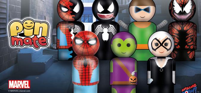 Bif Bang Pow! Marvel's Classic Spider-Man & Villains Miniature Pin Mate Wooden Figures