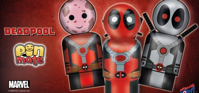 Bif Bang Pow! Miniature Pin Mate Wooden Deadpool Figures Available Now