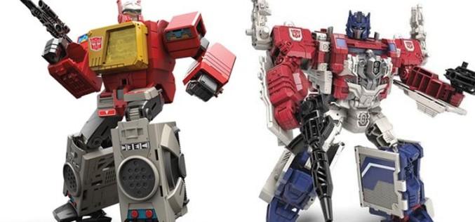 Transformers Generations Titans Return Leader Class Powermaster Optimus Prime & Blaster