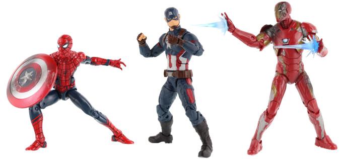 Hasbro Marvel Legends Captain America: Civil War 3 Pack Official Press Images
