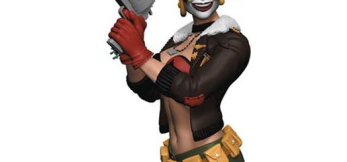 DC Bombshells Harley Quinn Bust Statue – Previews Exclusive