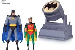 DC Collectibles BTAS Batman & Robin With Bat Signal  & Wonder Woman Statue