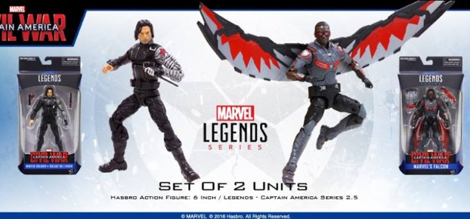 Hasbro Marvel Legends 6″ Captain America: Civil War The Winter Soldier & Falcon Figures (Update 2)