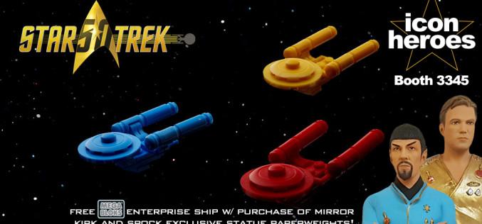 Icon Heroes SDCC Star Trek Mega Bloks Enterprise Ship Offer