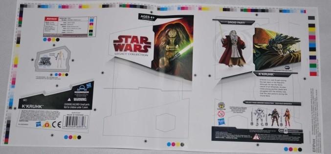 Hasbro Star Wars Legacy Collection K'Kruhk Proof Card & More On eBay