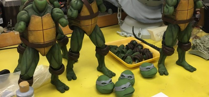 NECA Previews Teenage Mutant Ninja Turtles 1/4″ Scale Figures