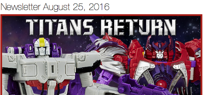 BigBadToyStore Update: Transformers Titans Return, Ghostbusters, Street Fighter, DC, Marvel, Dragon Ball Z & More