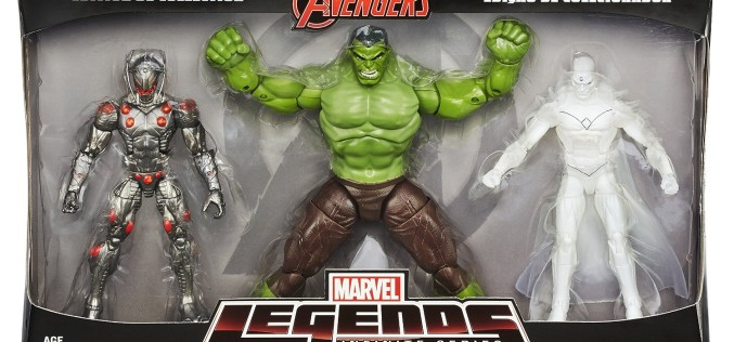Hasbro Marvel Legends 6″ Ultron, Hulk, & Vision 3 Pack In Stock On Amazon.ca