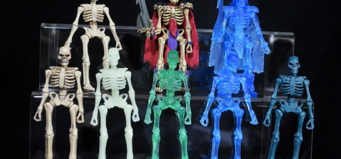 October Toys Skeleton Warriors Slime Green Translucent Skeleton Figure Review