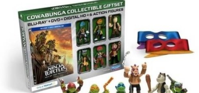 Teenage Mutant Ninja Turtles: Out Of The Shadows Wal-Mart Exclusive DVD + Blu-Ray Set With Mini-Figures