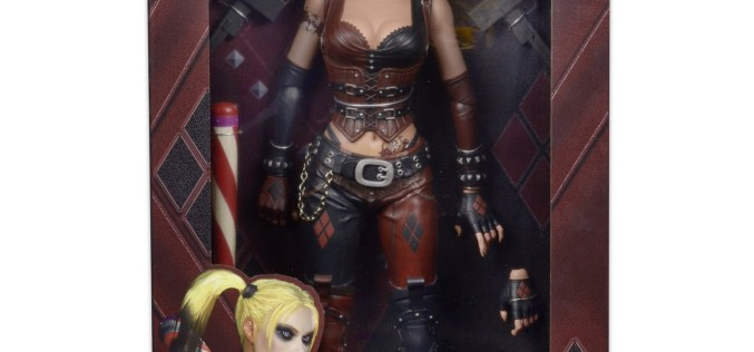 NECA Toys Arkham City Harley Quinn 1/4″ Figure In Packaging