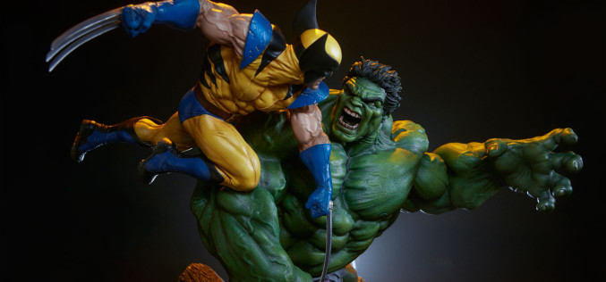 Sideshow Marvel Comics Hulk Vs. Wolverine Maquette Pre-Orders