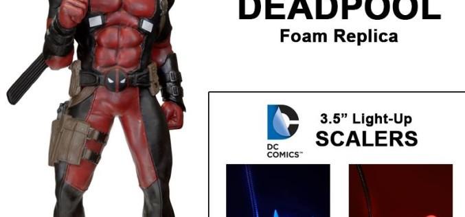 NECA Life-Size Deadpool Foam Replica, Batman & Harley Quinn On Amazon