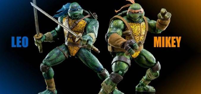 Threezero: Kevin Eastman TMNT Leonardo & Michelangelo Sixth Scale Figure Pre-Orders On Sideshow