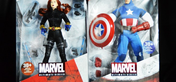 Disney Store Exclusive Marvel Ultimate Series Captain America & Black Widow Figures Review