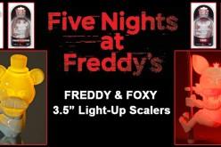NECA Toys Five Nights At Freddy's 3.5″ Freddy, Foxy Light-Up Scalers On Amazon & eBay