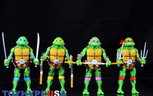 SDCC 2016 Exclusive NECA Toys TMNT Arcade Turtles And Foot Clan Box Sets Review