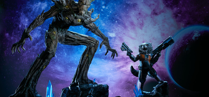 Sideshow Guardians Of The Galaxy Rocket And Groot Statue Pre-Orders