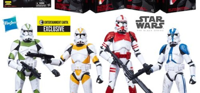 Entertainment Earth Exclusive Star Wars The Black Series 6″ Clone Troopers Of Order 66 Now Arriving