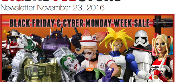 BigBadToyStore: Black Friday, Star Wars Black, Spider-Man Legends, Diamond Select, 3rd Party, Robotech & More
