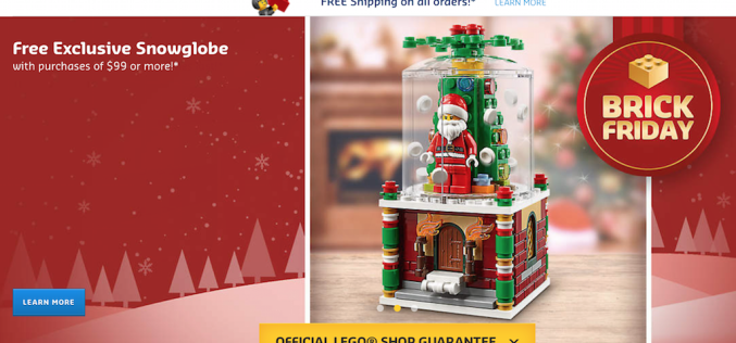 LEGO Shop Launches Black Friday Sale – Free Snow Globe With Purchase & Free Shipping