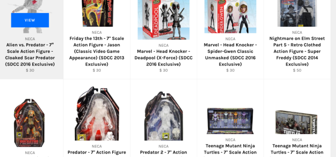 NECA Toys Launches Flash Sale On Previously Sold Out Convention Exclusives