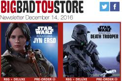 BigBadToyStore: Star Wars/Rogue One, Extreme Sets, Prometheus, Terminator, Marvel, Transformers & More
