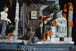 McFarlane Toys The Walking Dead The Boiler Room Construction Set Review
