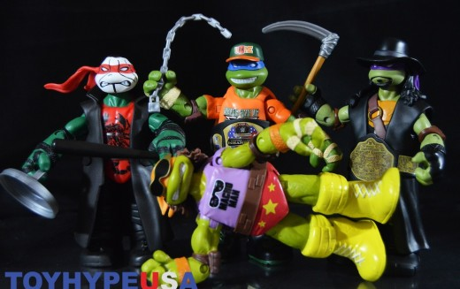First Look: Playmates Toys Teenage Mutant Ninja Turtles WWE 6″ Figures Review