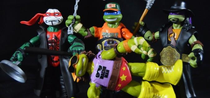 First Look: Playmates Toys Teenage Mutant Ninja Turtles WWE 6″ Figures Review